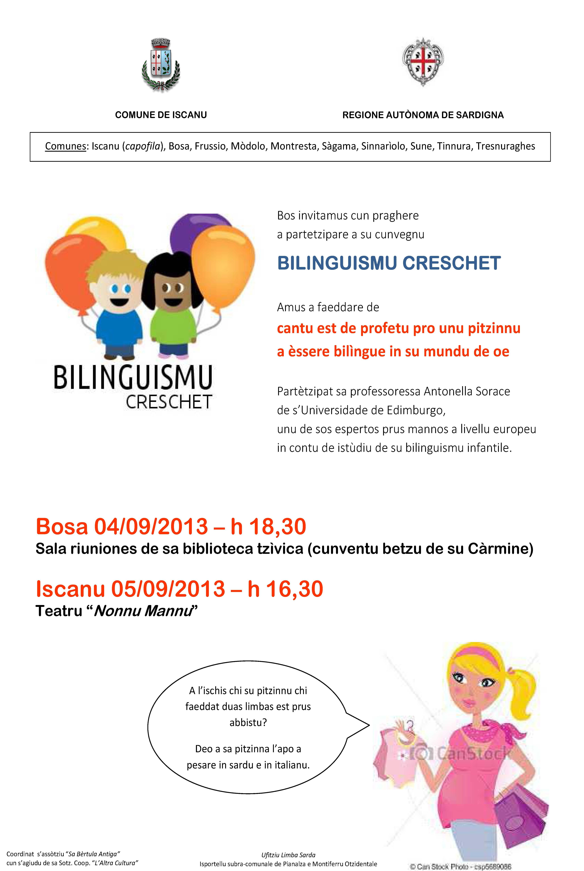 Bilinguismu creschet In Bosa e in Iscanu