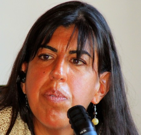 Claudia Firino in unu retratu de Angelo Canu