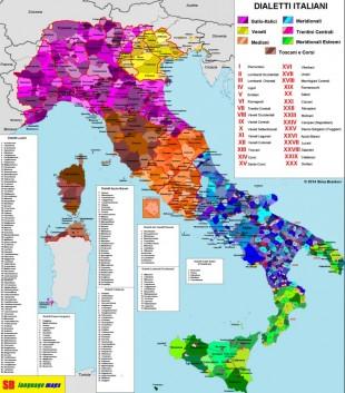 Italianu limba comuna e italianu dialetos-variedades