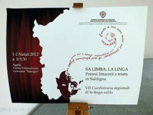 Cunferèntzia regionale de sa limba sarda Aggius 2012 - locandina in gadduresu