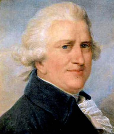 Retratu de Pascale Paoli, eroe natzionale corsicanu