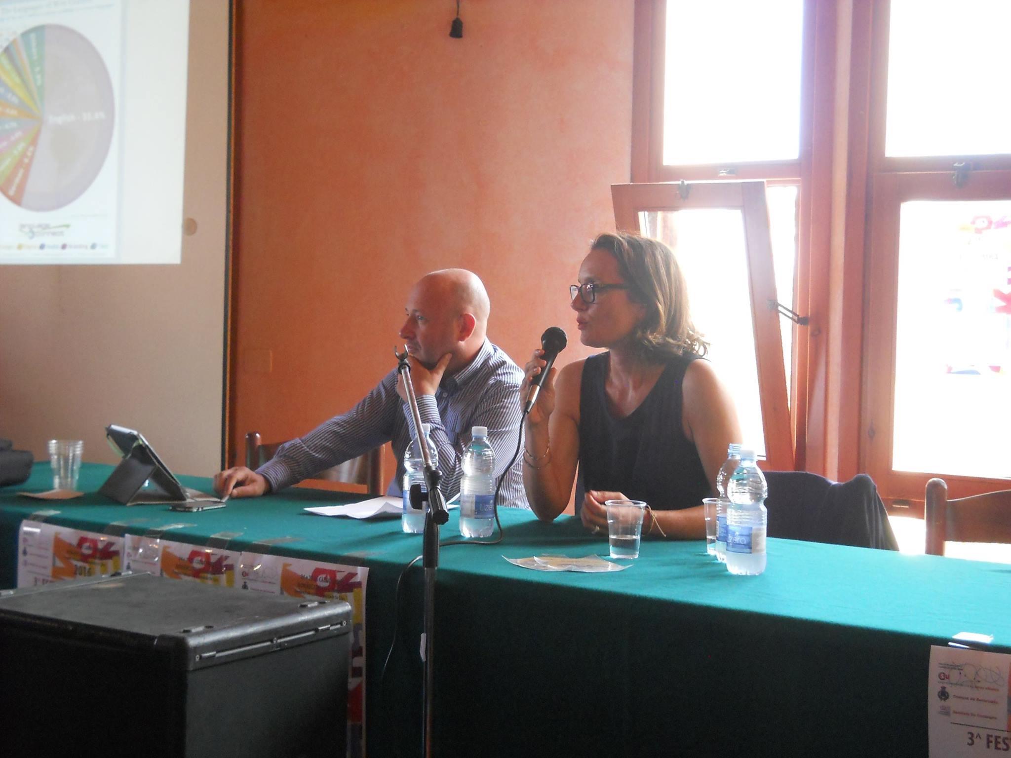Festa de sa Limba Ufitziale - Bonàrcadu - Roberto Carta (CSU) cun Claudia Soria (CNR-Pisa)