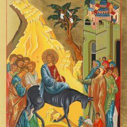 Evangèliu segundu Mateu [Mt 21,1-11]