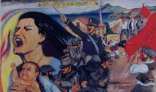 Murale chi ammentat s'ochimenta de Buggerru