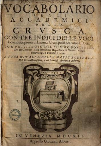 """S' """"Accademia della Crusca"""""""