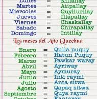 Su quechua, limba indìgena preispagnola