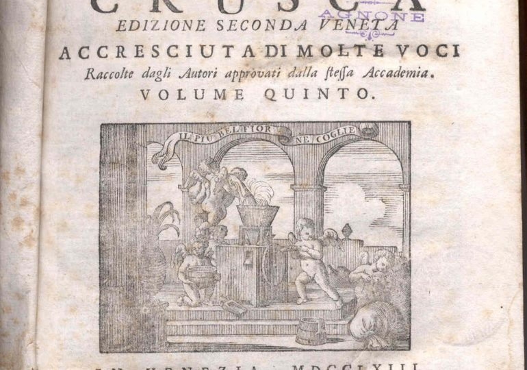 """Sa limba italiana e s' """"Accademia della Crusca"""""""