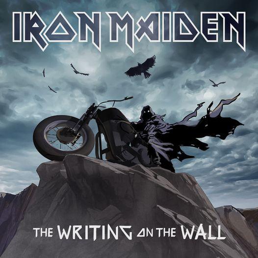"""""""The Writing on the Wall"""", sìngulu nou de sos Iron Maiden. Luego su de 17 discos"""